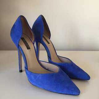 Zara Pointed Blue heels - Size 36