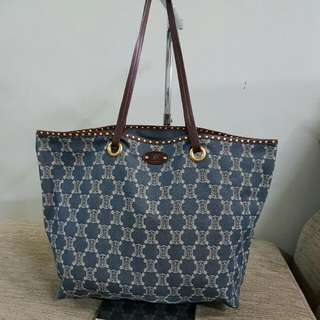 FURTHER REDUCE ! last chance !!Preloved !! Authentic Celine Denim Tote