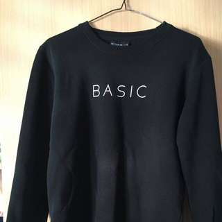 Basic Print Crew Sweater