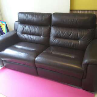 HTL 2.5-Seater Customised Recliner Leather Sofa With Lumbar Support