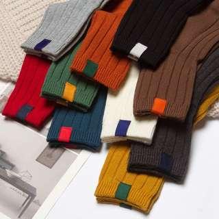 秋冬保暖純棉多色襪