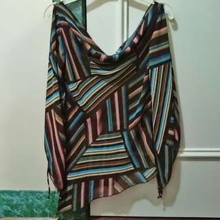 Striped Pattern Sheer Top