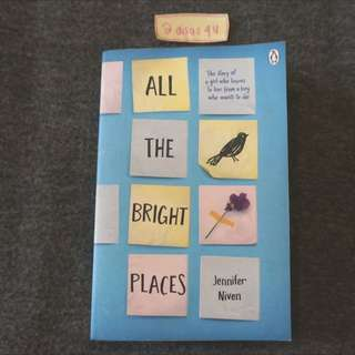 All The Bright Places - Jennifer Niven // English