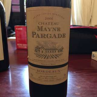 French Red Wine - Chateau Maybe Pargade 2001