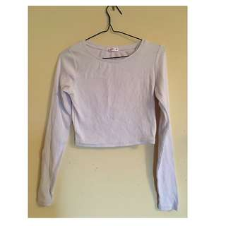 Supré White Long Sleeved Crop Top