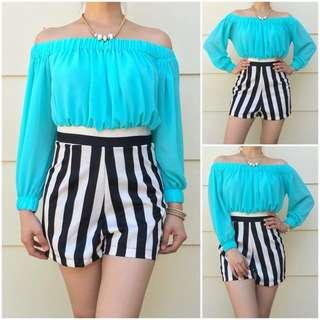Size 6 Aqua Trendy Jumpsuit