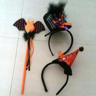 Halloween Hairbands And Owl Wand