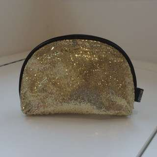 Sparkly Gold Cosmetics Bag