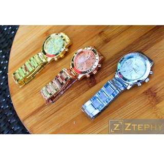 Geneva Unisex Stainless Steel Watch - Affordable , Accessories , Fashion , Cebu , Retail , Shop ,
