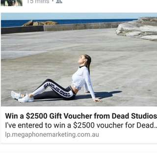 Win $2500 Voucher From Dead Studios Click The Link In The Description!!!