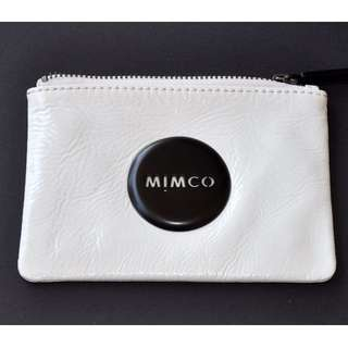 Mimco white black small pouch
