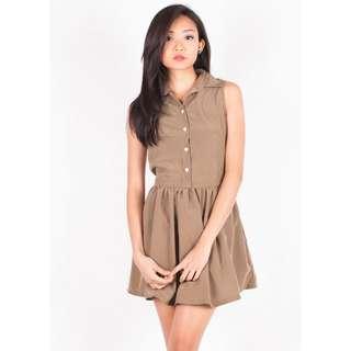 Barron collared sleeveless dress