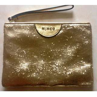 Mimco gold pouch medium