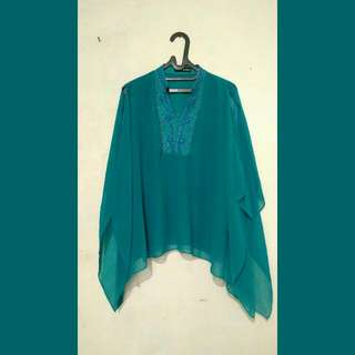 preloved blouse turqouis