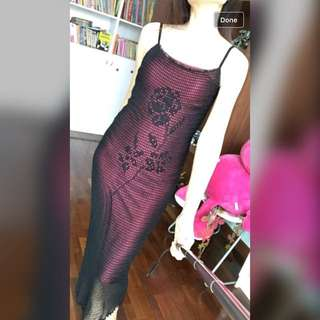 MNG Night Long Sequined Dress Size M #CNY50