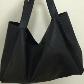 Zara Black Floppy Bag