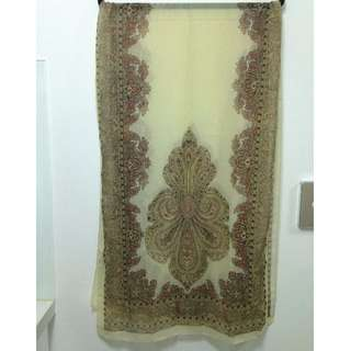 Sheer Mehndi Patterned scarf