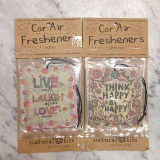 Natural Life car air fresheners