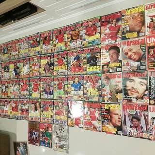 Match Magazines, Manchester United Officual Mags, Arsenal Official Mags