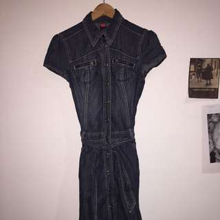 90s Punk Denim Dress