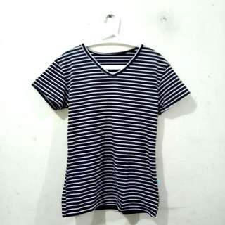 Stripes Black N White T Shirt