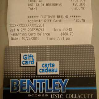 Bentley Leathers Gift Card