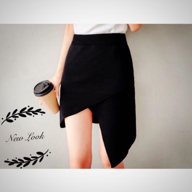 (含運)現貨黑/性感交叉設計針織包裙