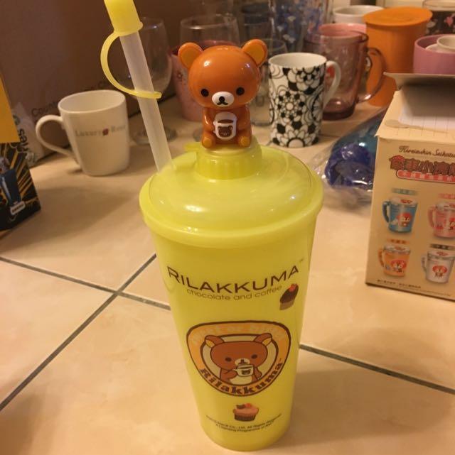 可愛熊冰水杯