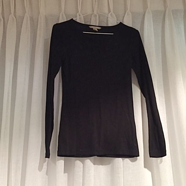 Banana Republic Long Sleeved Black Shirt
