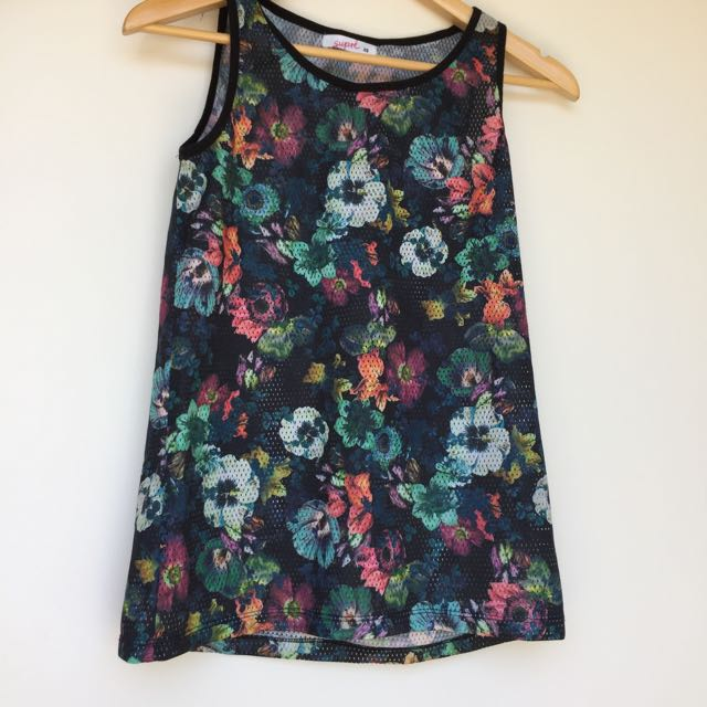 Bball Style Floral Top
