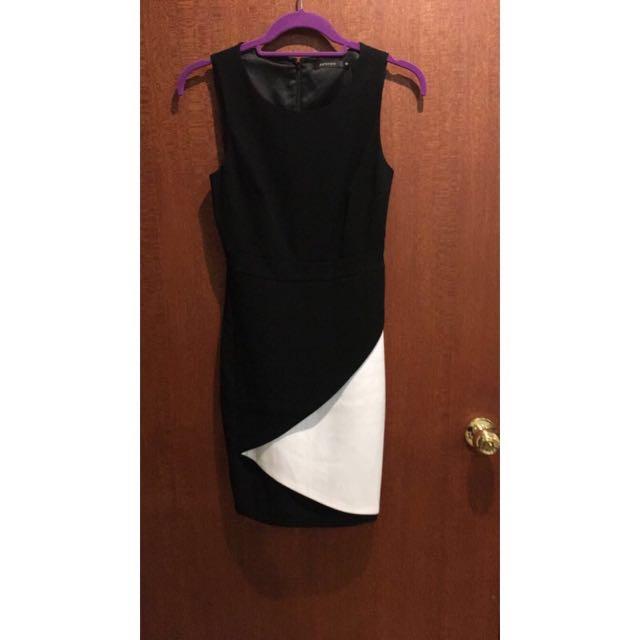 Black & White Shift Dress