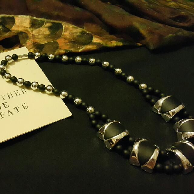 Black N Silver Necklace