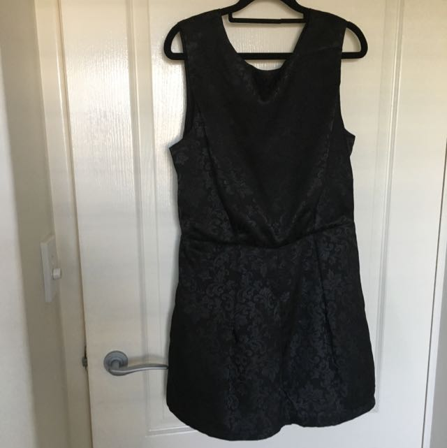 Black Romper Lace Back