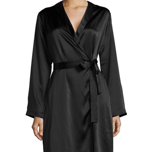 black victoria's secret robe