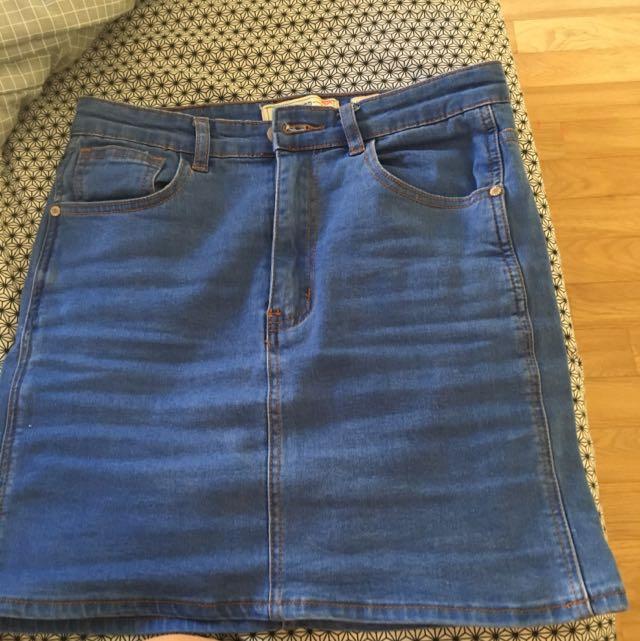 City Beach Denim Skirt