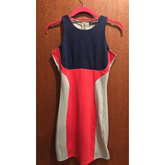 Coloured Block Shift Dress