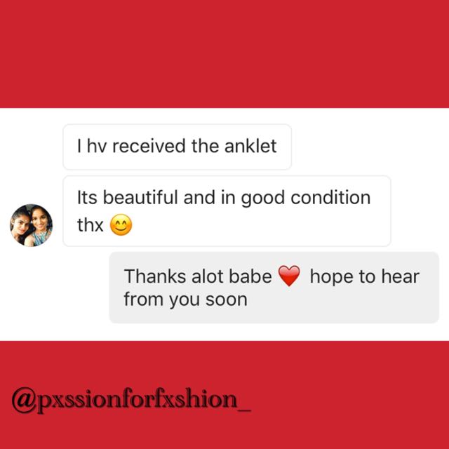 CUSTOMER FEEDBACK ON WHITE PEARL ANKLET 😍