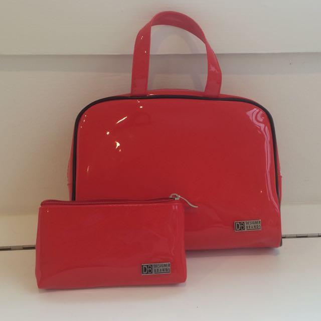Designer Brands Red Makeup Cases x2