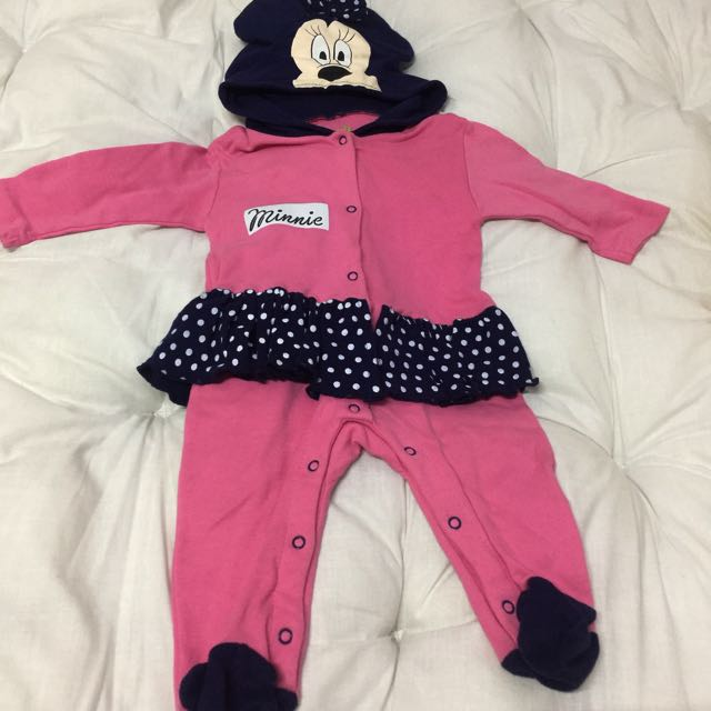 Disney Baby Overall Minnie Mouse