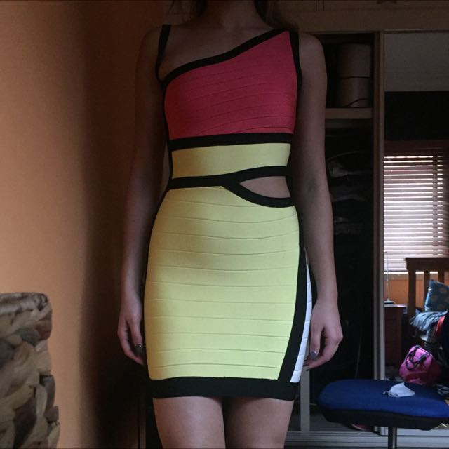 Doll House Nicki Manaj Replica Bandage Dress
