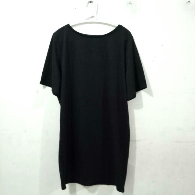 Dress Basic Kaos Santai Hitam (Black)