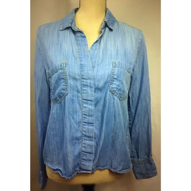 elevenses denim shirt