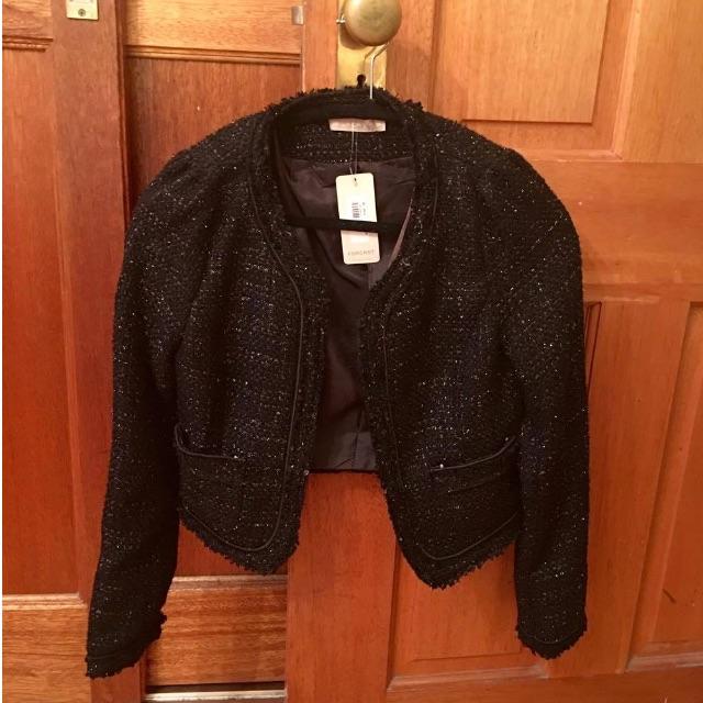 Forcast Shiny Black Blazer
