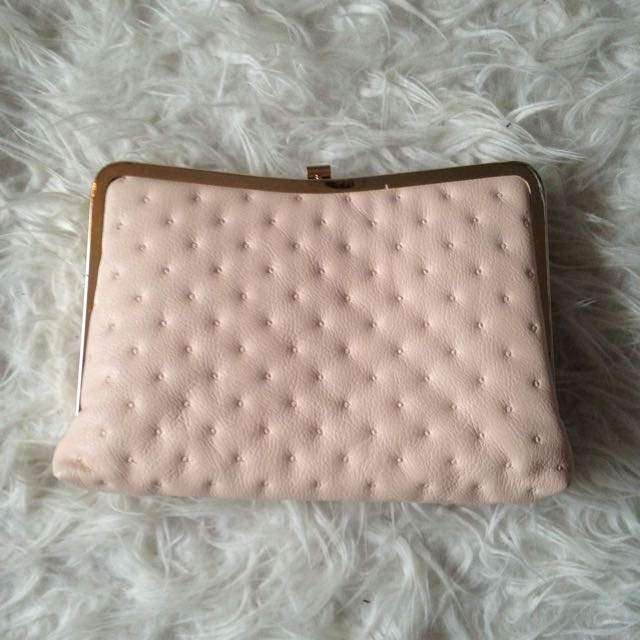 Forever New Baby Pink Formal Clutch Bag
