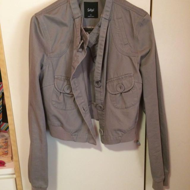 Grey Cropped Jacket