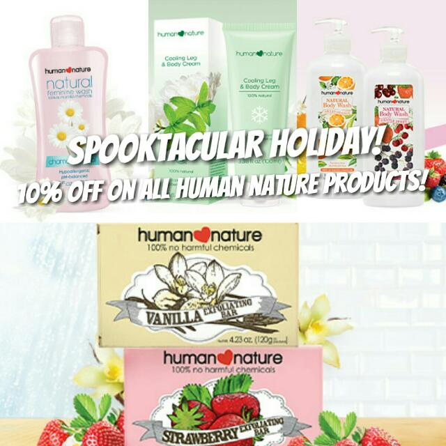 Halloween Sale!!! On ALL Human Nature Products!