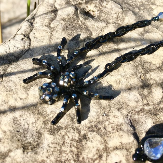 Handcrafted, One Of A Kind Spider Necklace