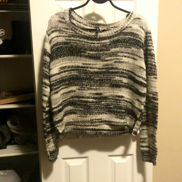 H&M Black And White Knit