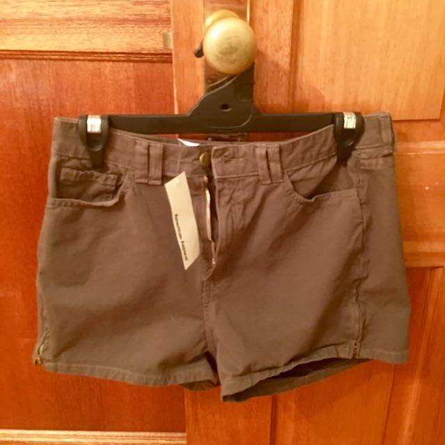 Khaki Green Shorts (American Apparel) New
