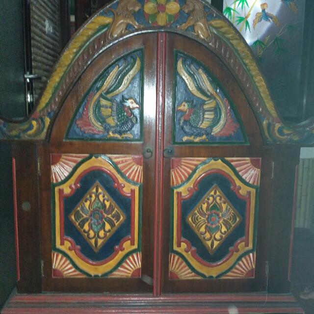 Lemari Jati Antik Ukiran Madura